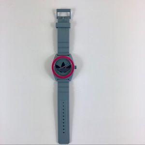 Adidas Unisex Santiago Grey & Pink Watch